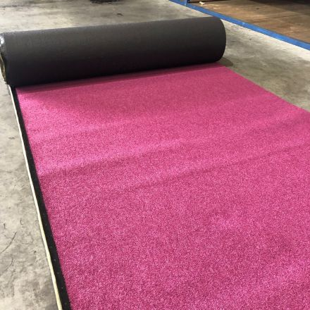 Kunstgras roze coupon - 24 x 4 meter